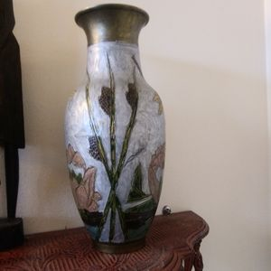 Accents - Cloisonne Solid Brass Vase - India